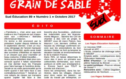SUD Education 89 : Grain de sable n°1